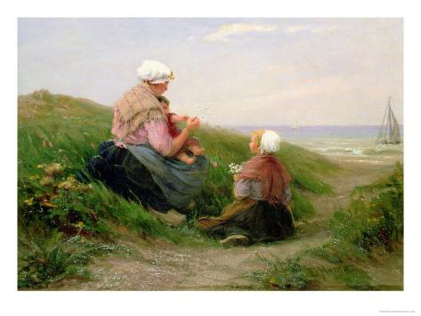 Mother and Her Small Children Giclee Print