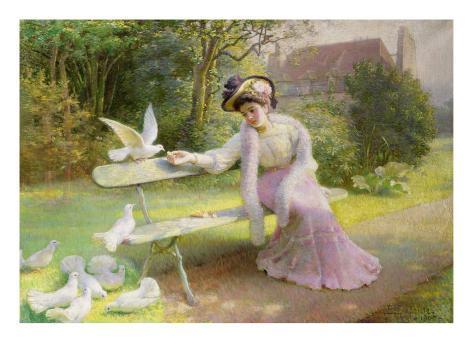 Feeding the Doves Lámina giclée