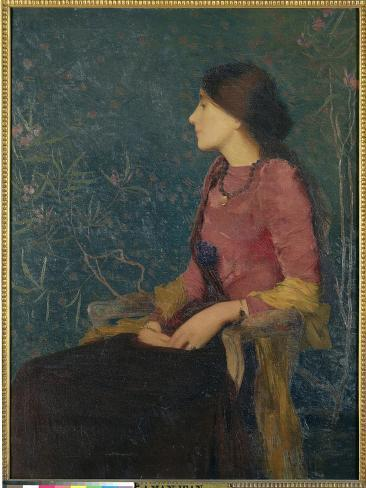 Seated Portrait of Thadee-Caroline Jacquet, Later Madame Aman-Jean, Before 1892 Giclee Print