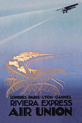 Riviera Express Air Union Väggdekal