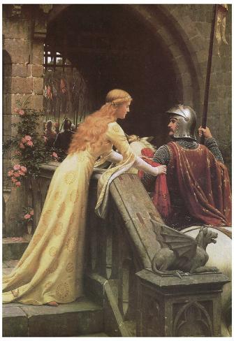 Edmund Blair Leighton (A Lady's Favor) Art Poster Print Poster