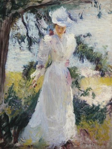 My Wife, Emeline, in a Garden Lámina giclée