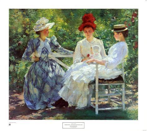 Three Sisters, a Study in June Sunlight Art Print
