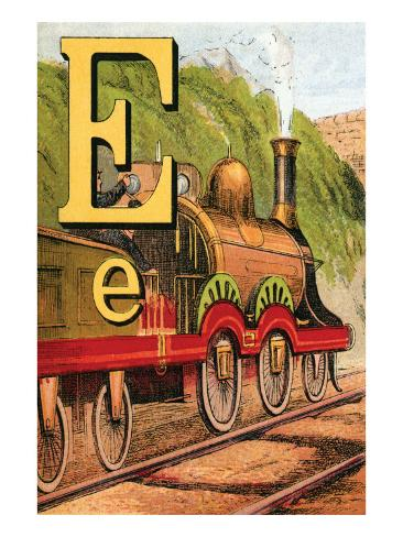 E For the Engine That's Lighted With Coke Art Print