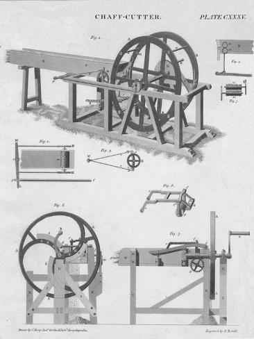 Chaff-Cutter, c1813 Giclee Print