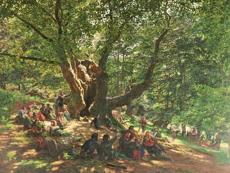 Robin Hood and His Merry Men in Sherwood Forest, 1859 Giclee Print