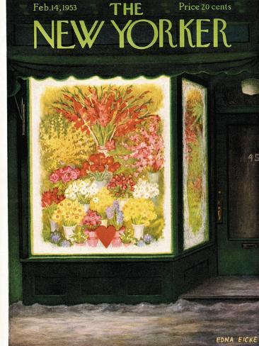 The New Yorker Cover - February 14, 1953 Stampa giclée premium