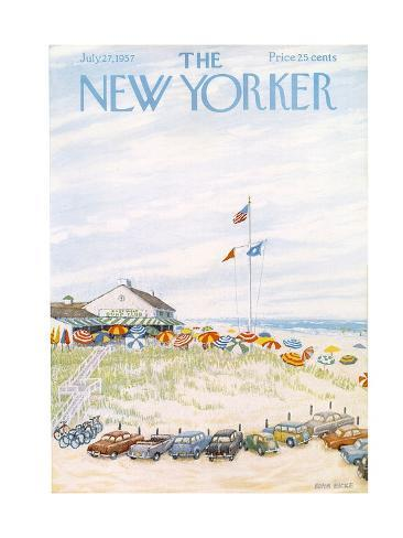 The New Yorker Cover - July 27, 1957 Premium Giclee Print