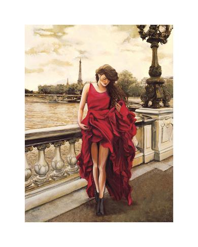 Woman in Paris Giclee Print