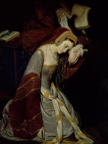Anne Boleyn (1507-36) in the Tower, Detail, 1835 Lámina giclée