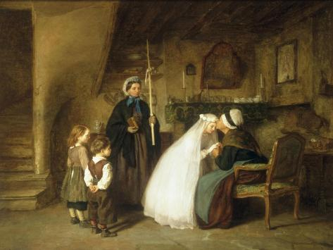 The First Communion, 1867 Giclee Print