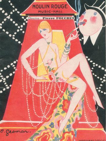 1925 Moulin Rouge programme ça c'est paris Giclee Print
