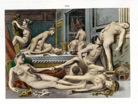 Ancient Times, from De Figuris Veneris by F.K Forberg, Engraved by the Artist, 1900 Giclee Print