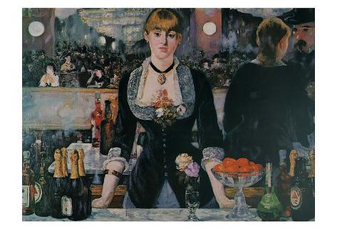 A Bar at the Folies-Bergere Art Print