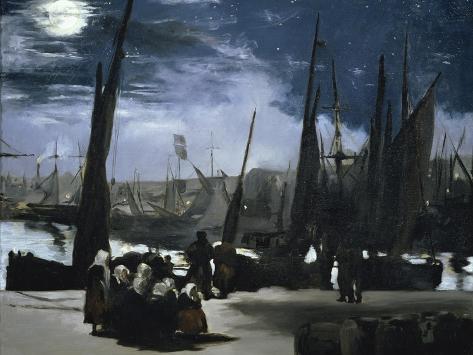 Clair de Lune Sur le Port de Boulogne Giclee Print