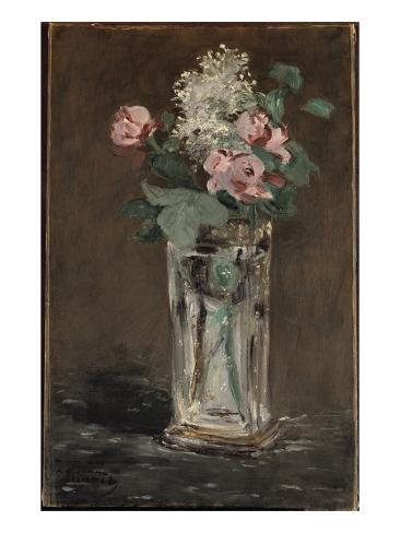 Flowers in a Crystal Vase Giclée-vedos