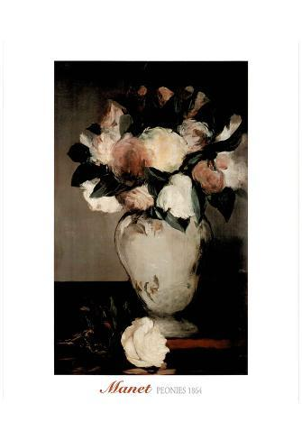 Edouard Manet Peonies Flower Vase Art Print Poster Prints