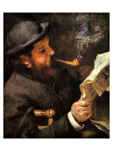 Portrait of Claude Monet Reading Giclee Print