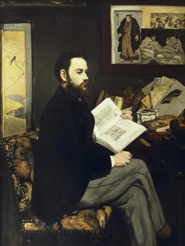 Portrait of Emile Zola...