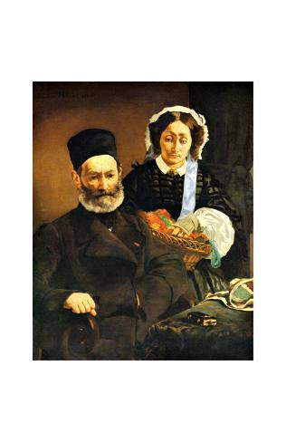 Portrait of M. and Mme. Auguste Manet Giclee Print
