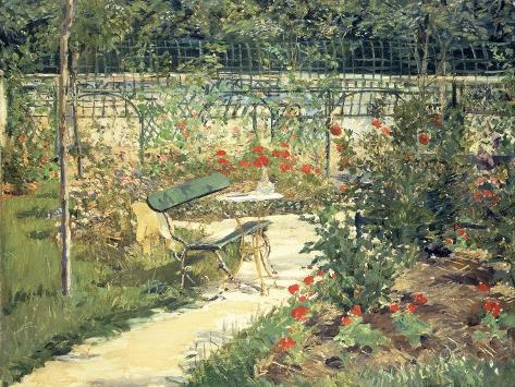 The Bench in the Garden of Versailles, 1881 Giclee Print