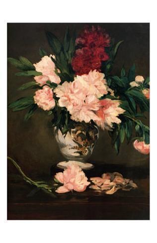 Vase de Pivoines, c.1864 Art Print