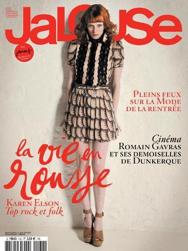 Jalouse, July-August 2010 - Karen Elson Art Print