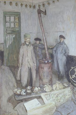 Interrogation of a German Prisoner by a French Officer, 1917 Lámina giclée