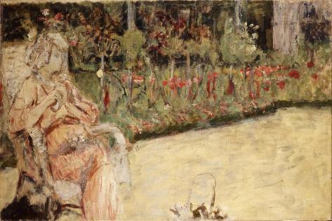 Mme Hessel in Cezanne's Garden at Vaucresson, C.1920 Lámina giclée
