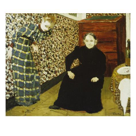 Mutter Und Schwester Des Kuenstlers Giclee Print