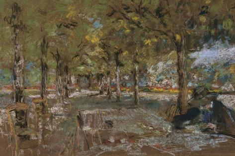Reading Beneath the Trees at Amfreville, C.1906 Lámina giclée