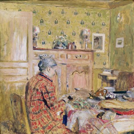 The Artist's Mother Taking Breakfast, 1899-1904 Lámina giclée