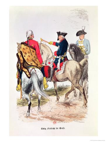 Frederick II (1712-86) the Great, Illustration from