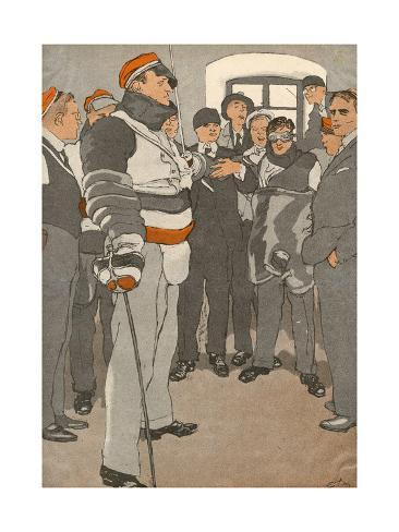 German Student Duel 1933 Stampa giclée