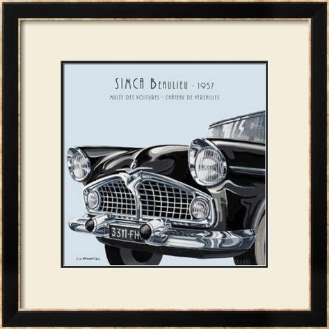 Simca Beaulieu 1957 Framed Art Print