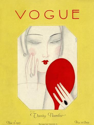 Vogue Cover - November 1925 Premium Giclee Print
