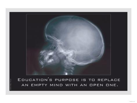 Education for an Empty Mind Art Print