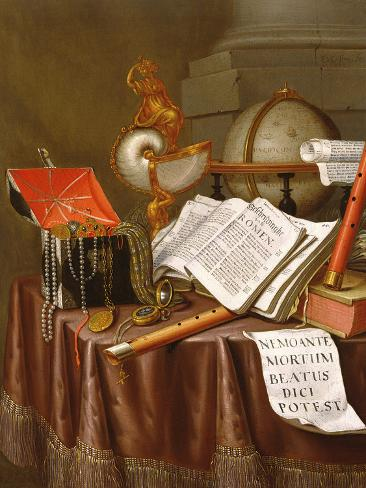 Vanitas, (An Allegorical Still-Life) Photographic Print