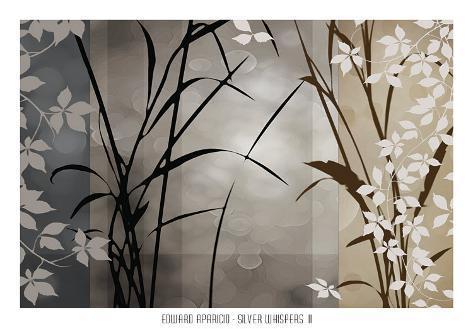 Silver Whispers II Art Print