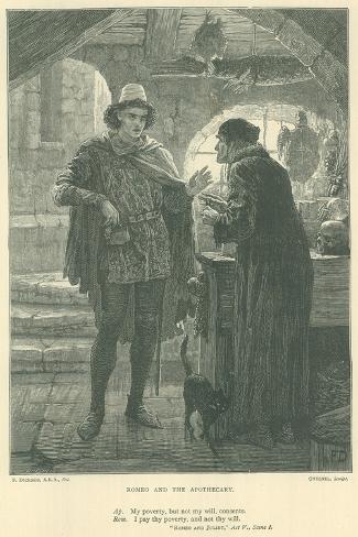 Illustration for Romeo and Juliet Lámina giclée