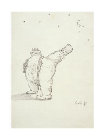 William Morris (1834-96) Performing a Cartwheel Lámina giclée