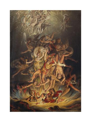 The Fall of the Angels, 1798 Lámina giclée