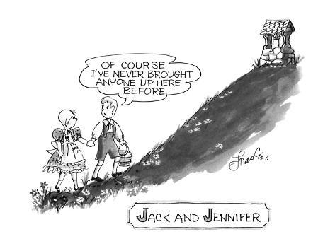 Jack and Jennifer - New Yorker Cartoon Premium Giclee Print