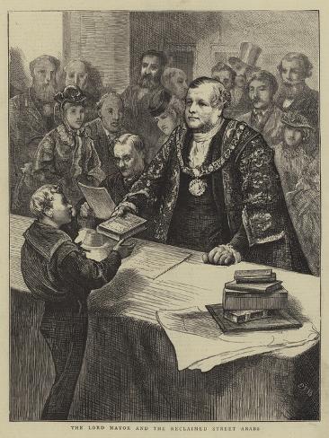 The Lord Mayor and the Reclaimed Street Arabs Lámina giclée