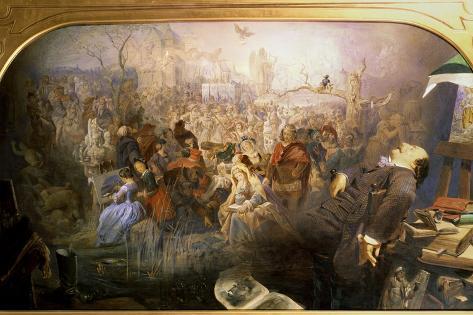 The Artist's Dream Lámina giclée