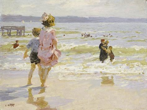 At the Seashore Giclee Print
