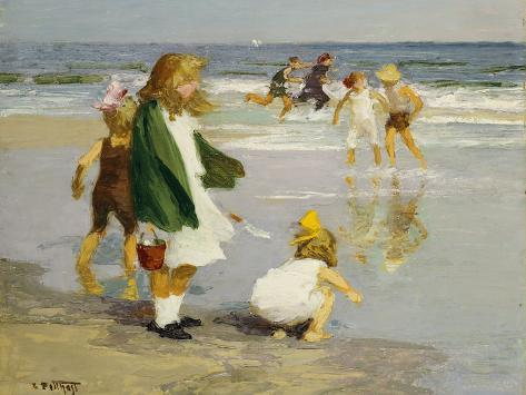 Play in the Surf Giclee Print