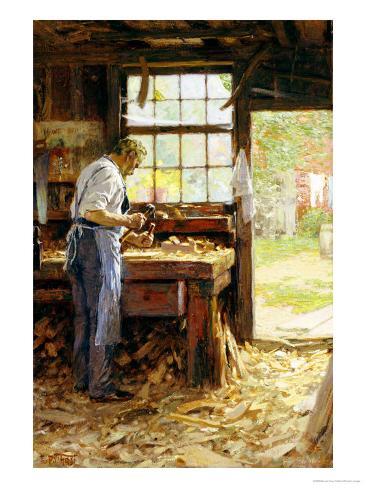 Village Carpenter, 1899 Giclee Print