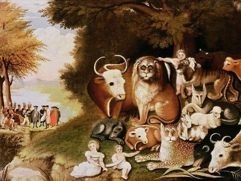 The Peaceable Kingdom, 1832-34 (See also 84503) Giclee Print