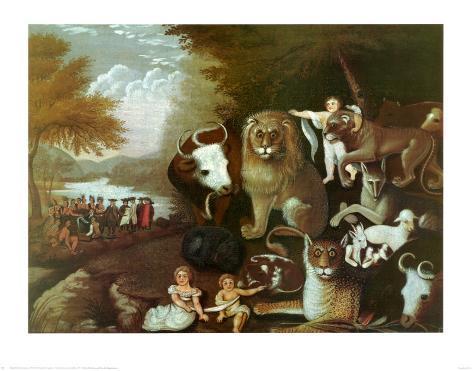The Peaceable Kingdom, 1834 Art Print